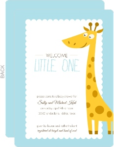 giraffe boy baby shower invitation boy baby shower invitations