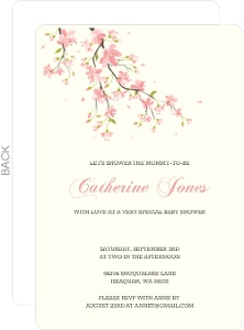 Pink Blossoms Baby Shower Invitation