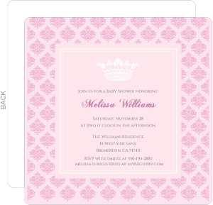 pink damask girl baby shower invitation girl baby shower invitations