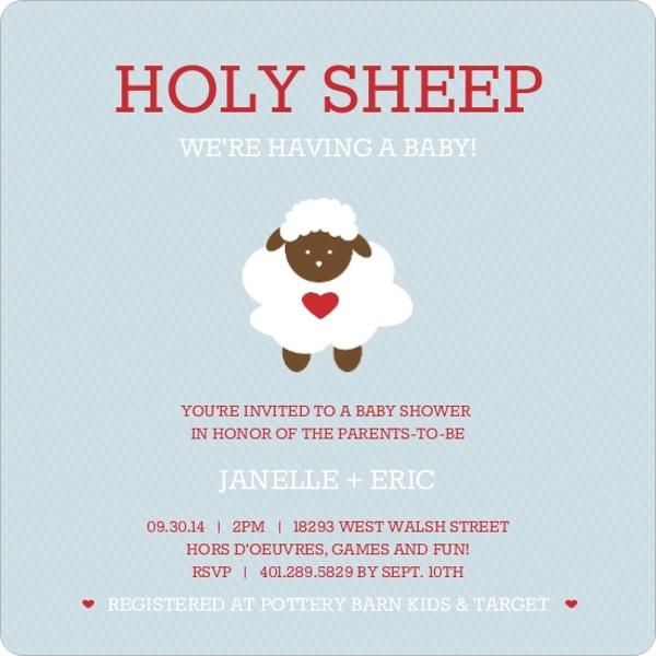 Sheep Baby Shower Invitations U2013 Gangcraft, Baby Shower Invitations