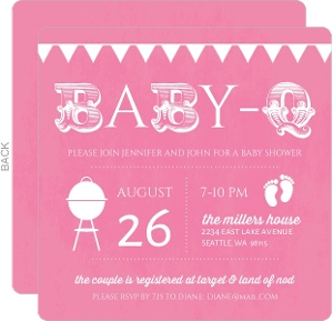 BabyQ Pink Baby Shower Invitation  Cheap Girl Baby Shower Invitations