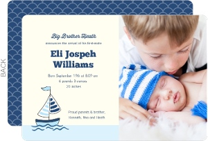 First Mate Sibling Baby Announcement