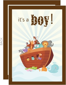 Noah's Ark Boy Baby Shower Invite