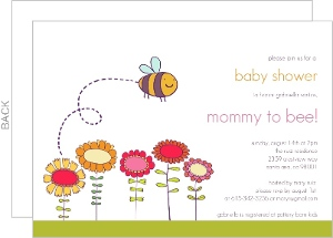 Mommy to Bee Baby Shower Invite