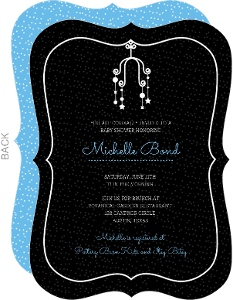 Cute Black Dots and Mobile Baby Shower Invite