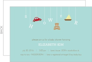 Teal Baby Shower Mobile Invite
