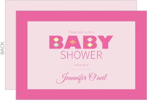 pink baby girl shower invitation cheap girl baby shower invitations