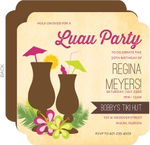 cheap luau invitations  invite shop, Birthday invitations