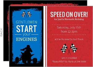 Go Kart Race Car Birthday Party Invitation