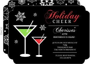Holiday Cheer Martini 40th Birthday