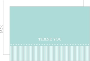 Pale Blue and White Striped Thank You Card