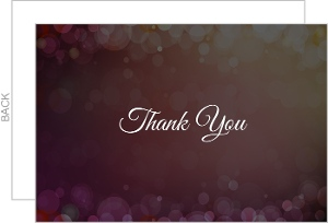 Magenta Lights Background Thank You Card