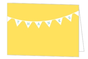 Cheerful Yellow Flag Thank You Card