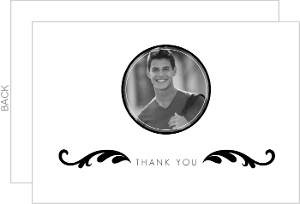 Custom Black and White Photo Thank You Card