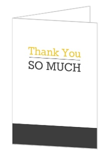 Casual Gray and Yellow Thank You Card