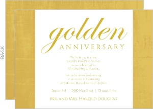 Cheap 50th Anniversary Invitations | Invite Shop