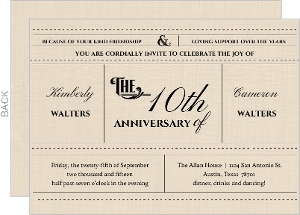 Western Love 10th Anniversary Invitation