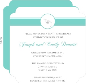 Monogram Anniversary Party Invitation