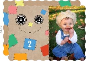 Scarecrow Halloween Birthday Invitation