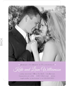 Purple Ribbon Wedding Anniversary Invite