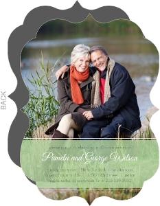 Green Ribbon 40th Wedding Anniversary Party Invite