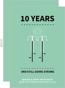Matching Bikes 10th Anniversary Invitation