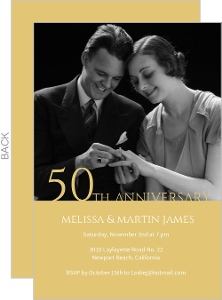 Classic 50th Anniversary Invitation