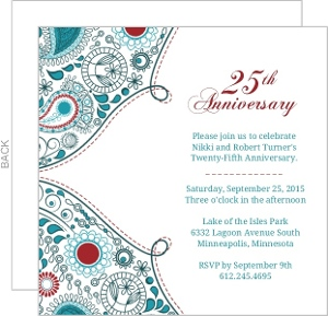 Cheap 25th Anniversary Invitations - Invite Shop