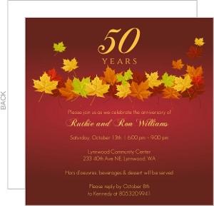 Invitation cards 50th anniversary purplemoon cheap th anniversary invitations invite shop invitation samples stopboris Choice Image