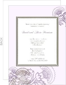 Elegant Lavender Floral Anniversary Invite