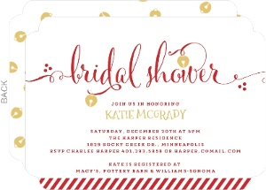 Jingle Bell Bridal Shower Invitation