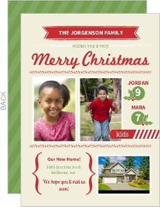 Home Sweet Holiday Moving Announcement