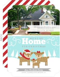Whimsical Winter Wonderland Holiday Moving Announcement