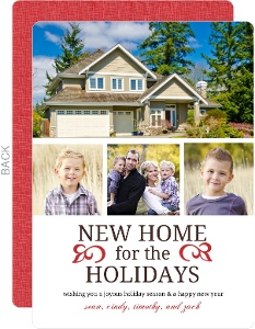New Home New Year Holiday Moving Announcement