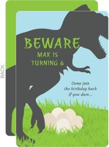 Mother Dinosaur Kids Birthday Invitation