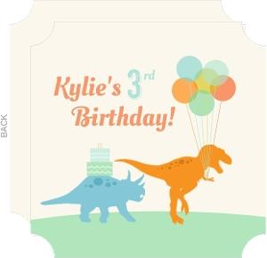 Dinosaur Party Guests Kids Birthday Invite