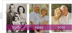 Multiphoto Timeline Anniversary Invitation