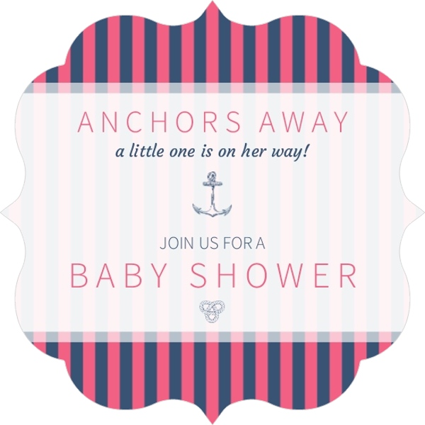 Nautical Baby Shower Girl Simple Stripes Girls Nautical Baby Shower. Nautical  Baby Shower Girl Simple Stripes Girls Nautical Baby Shower.
