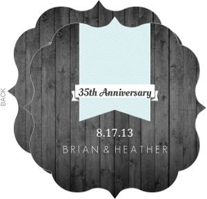 Gray and Blue Modern Wedding Anniversary Invitation