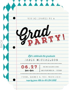 School Paper Graduation Invitation