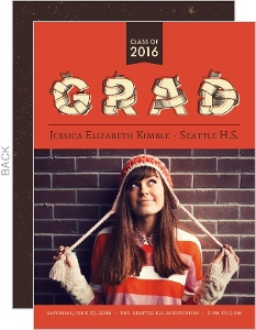 Rustic Modern Graduation Photo Announcement