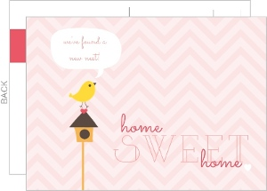 Sweet Birdie Moving Announcement Postcard