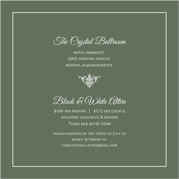 Electronic business anniversary invitations green elegant monogram business anniversary invitation stopboris Image collections