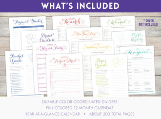 "8.5"" x 11"" inch - Wedding Planner Pages"