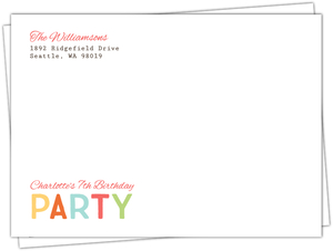 Floral Spring Frame Birthday Party Envelope