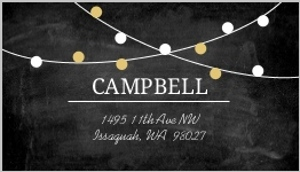 Festive Gold Lights Address Label