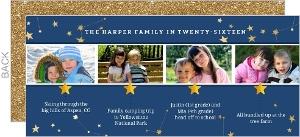 Festive Stars Timeline Holiday Photo Cards