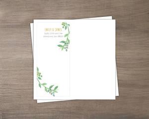 Watercolor Botanical Wreath Custom Envelope