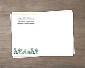 Greenery Watercolor Foliage Custom Envelope