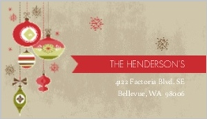 Vintage Red And Green Ornaments Address Label